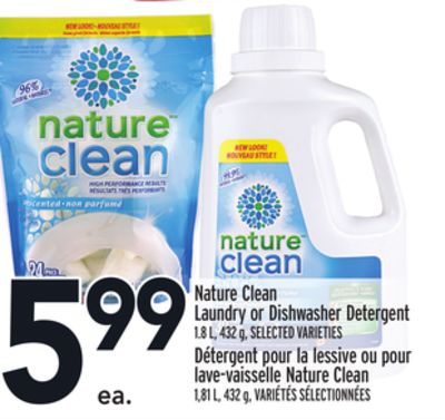 Nature Clean Laundry or Dishwasher Detergent