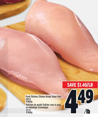 Fresh Skinless Chicken Breast Value Pack