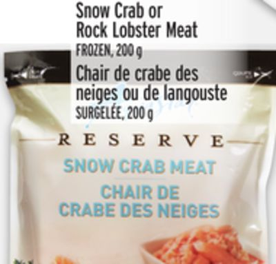 Snow Crab or Rock Lobster Meat