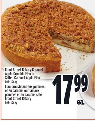 Front Street Bakery Caramel Apple Crumble Flan or Salted Caramel Apple Flan