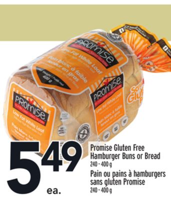 Promise Gluten Free Hamburger Buns or Bread