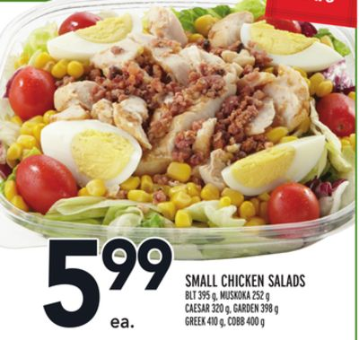 Small Chicken Salads