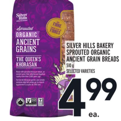 Silver Hills Bakery Sprouted Organic Ancient Grain Breads