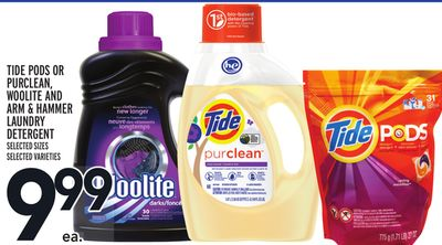 Tide PODS Or Purclean - Woolite And Arm & Hammer Laundry Detergent