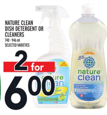 Nature Clean Dish Detergent Or Cleaners