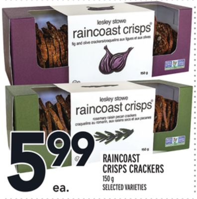 Raincoast Crisps Crackers