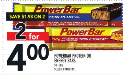 Powerbar Protein Or Energy Bars