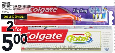 Colgate Toothpaste Or Toothbrush
