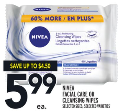 Nivea Facial Care Or Cleansing Wipes