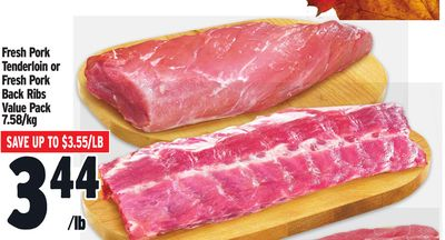Fresh Pork Tenderloin or Fresh Pork Back Ribs