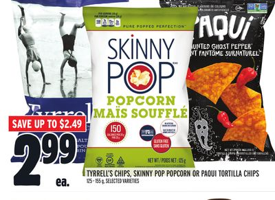 Tyrrell's Chips - Skinny Pop Popcorn Or Paqui Tortilla Chips
