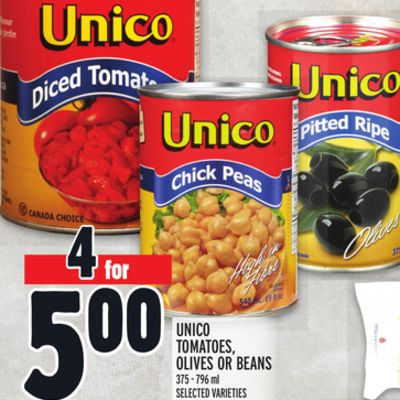 Unico Tomatoes - Olives Or Beans