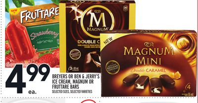 Breyers Or Ben & Jerry's Ice Cream - Magnum Or Fruttare Bars