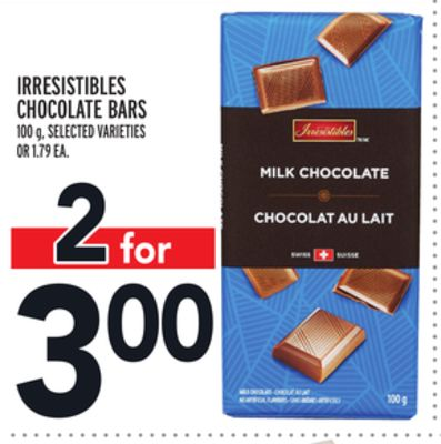 Irresistibles Chocolate Bars