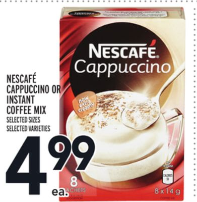 Nescafé Cappuccino Or Instant Coffee Mix