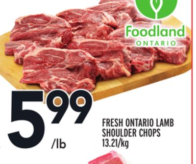 Fresh Ontario Lamb Shoulder Chops