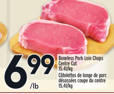 Boneless Pork Loin Chops Centre Cut