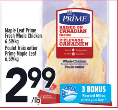 Maple Leaf Prime Fresh Whole Chicken