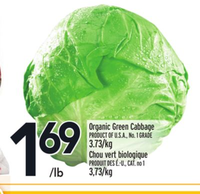 Organic Green Cabbage