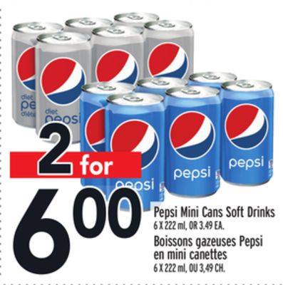Pepsi Mini Cans Soft Drinks