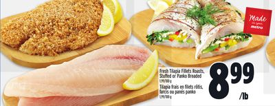 Fresh Tilapia Fillets Roasts - Stuffed or Panko Breaded