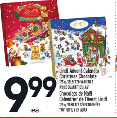 Lindt Advent Calendar Christmas Chocolate