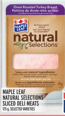 Maple Leaf Natural Selections Sliced Deli Meats