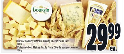 Fresh 2 Go Party Pleasure Creamy Cheese Plank Tray