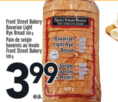 Front Street Bakery Bavarian Light Rye Bread
