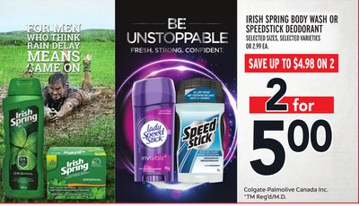 Irish Spring Body Wash Or Speedstick Deodorant