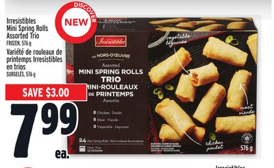 Irresistibles Mini Spring Rolls Assorted Trio