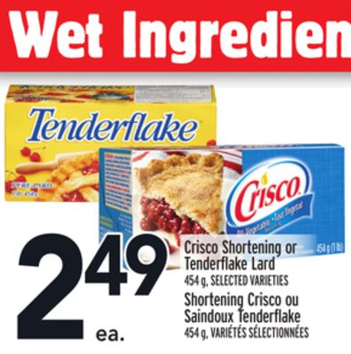 Crisco Shortening or Tenderflake Lard