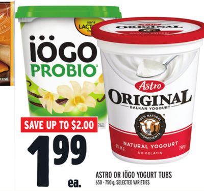 Astro Or Iögo Yogurt Tubs