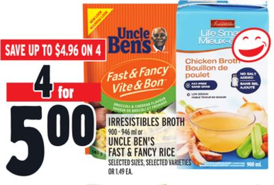 Irresistibles Broth 900-946 ml or Uncle Ben's Fast & Fancy Rice