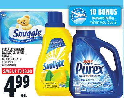 Purex Or Sunlight Laundry Detergent - Snuggle Fabric Softener