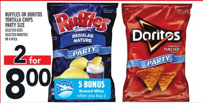 Ruffles Or Doritos Tortilla Chips Party Size