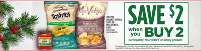 Tostitos Organic Tortilla Chips Or Miss Vickie's Chips