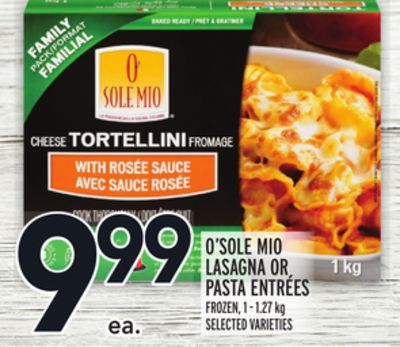 O'sole Mio Lasagna Or Pasta Entrees