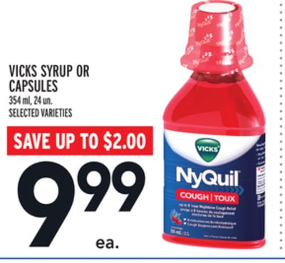 Vicks Syrup Or Capsules