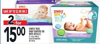 Simply Kids Baby Diapers Or Wipe Refills