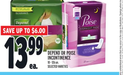 Depend Or Poise Incontinence