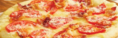 Bacon Tomato Personal Pizza 4 Slices