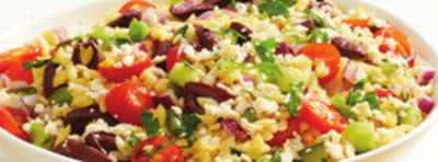 Greek Style Orzo And Feta Cheese Salad