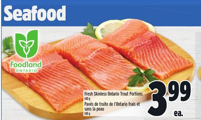 Fresh Skinless Ontario Trout Portions