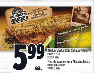 Alaskan Jack's Keta Salmon Fillets Citrus Pepper