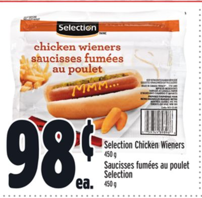 Selection Chicken Wieners