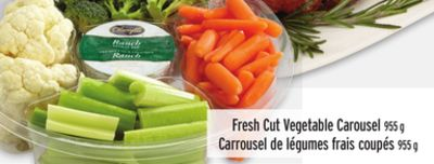 Fresh Cut Vegetable Carousel