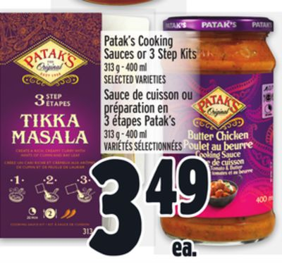 Patak's Cooking Sauces Or 3 Step Kits