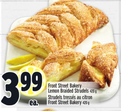 Front Street Bakery Lemon Braided Strudels