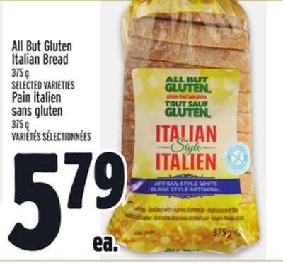 All But Gluten Italian Bread